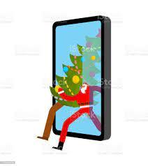 Noel Baba Tebrikler Online Gadget Noel Ve Yeni Yıl Hediyeler Ve Akıllı  Telefon Webâ Mevcut Sipariş Telefon Ekranında Hediye Kutusu Mağaza  Penceresi Stok Vektör Sanatı & ABD'nin Daha Fazla Görseli - iStock