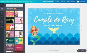 Aplicaciones Para Hacer Invitaciones Gratis Diseña Invitaciones De La Sirenita Online Gratis Canva