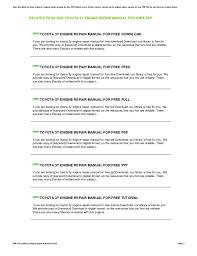 Toyota 3y Engine Repair Manual