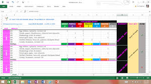 Meal Planning Spreadsheet Excel Free Excel Spreadsheet Meal Planner And Tracker For All