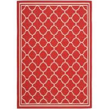courtyard red bone 7 ft x 10 ft indoor outdoor area rug