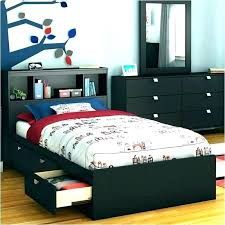 Solid Wood Twin Platform Bed Frame Xl Size With Storage Beds Home ...