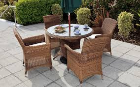 ... Outdoor:5 Piece Wicker Outdoor Dining Set Round Outdoor Setting 7 Piece  Metal Patio Set