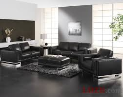 Marvelous Ideas Black Leather Living Room Furniture Clever Paris 1