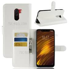 for xiaomi pocophone f1 poco f1 india cover litchi grain leather case