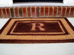 large front door matsTips Personalize Your Entryway With Cozy Monogram Doormat