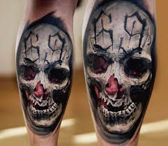 Skull Tattoo By Michal Ledwig Photo 27198