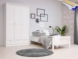 Jugendzimmer Landström 161 Weiß 5 Teilig Bett Komplett 90x200