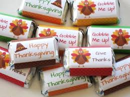 thanksgiving table favors. Thanksgiving Party Favors - Candy Wrappers Table