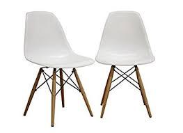 Amazoncom Fancierstudio Mid Century Modern Designer Chair Plastic