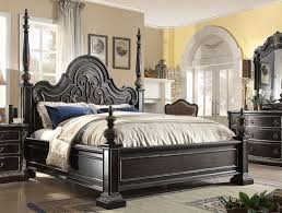 california king bed. Matteo Gothic California King Poster Bed In Ebony Finish With Carved Details