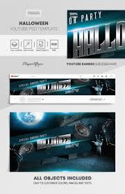 Youtube Template Psd Halloween Youtube Channel Banner Psd Template