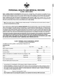 Jamboree Personal Health And Medical Record Form - Fill Online ...
