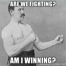 are we fighting? am i winning? - old man boxer | Meme Generator via Relatably.com