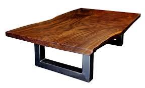 a claro walnut slab coffee table