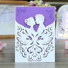 High Grade Wedding Invitation Card With Envelope Laser Cut Hollow Out Party Invites For Engagement Hot Free Shiping
