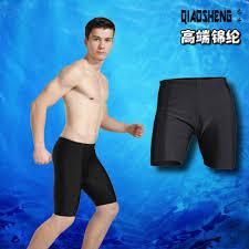 Supply Qiao sheng <b>men's</b> pure black <b>swimming trunks flat Angle</b> ...