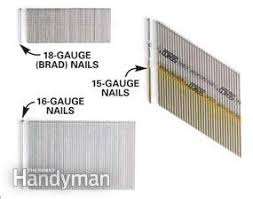 diffe nail sizes