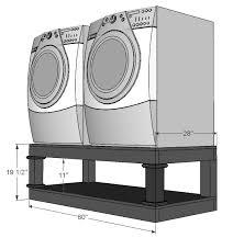 washer dryer pedestal png