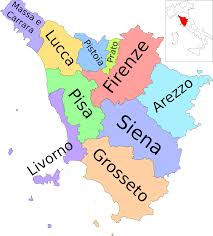 filemap of region of tuscany italy with provincesitsvg