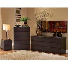 bedroom furniture pieces. 3 Piece Bedroom Set Double Dresser 5-Drawer Chest Nightstand Furniture Espresso Pieces U