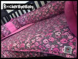 custom 4 piece set punk baby crib bedding you by rockerbyebaby