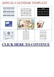 Annual Calendar Template : Annual Calendar | Annual Calendar ...