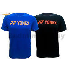 2 Pieces Yonex Round Neck T Shirt Quick Dry Sports Jersey Dry Fast Rm S092 1007a Black And Blue