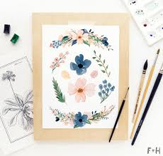 free image flowers 2. Interesting Image Free Blush U0026 Navy Beautiful Watercolor Flowers  Fox  Hazel 2 With Image E