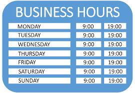 Free Operating Hours Sign Templates At Allbusinesstemplates Com