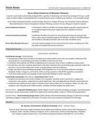 Social Media Marketing Resume New Social Media Marketing Resume