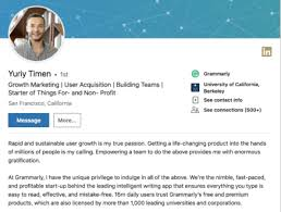 Professional Goals List How To Write A Bio Quick Tips And Bio Examples Grammarly