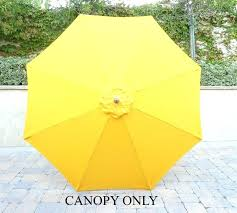 market umbrella replacement canopy magnificent patio umbrella replacement market patio umbrella replacement cover ribs yellow 10