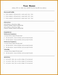 8 Basic Resume Templates Microsoft Word Besttemplates Besttemplates