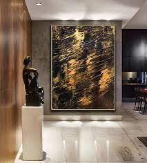 black gold wall art print