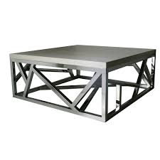 geometric stainless steel coffee table  isabelina