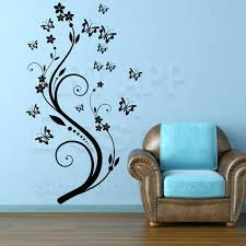with art beautiful design home decoration vinyl erfly flower wall sticker removable house decor decals in flower wall decals hobby lobby brd