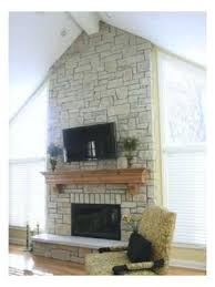 dry stacked fireplace cobble dry stack stone fireplace ideas
