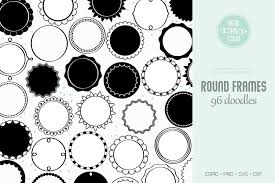 Zig zag background vector pack eps file. Round Frames Hand Drawn Circle Border Graphic By Digital Draw Studio Creative Fabrica