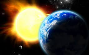 Billedresultat for sun earth