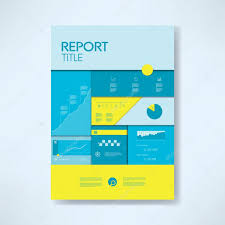Annual Report Cover Template Annual Report Cover Template With Business Icons And Elements Pie 23
