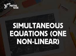 simultaneous equations one non linear