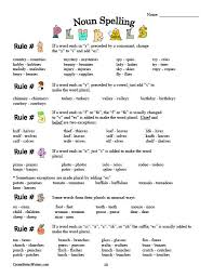 Best Ideas Of Plural Rules Worksheets On Download Resume