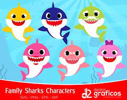 picture clipart baby shark clipart etsy