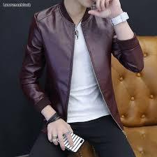 2018 mens leather jackets and coats famous brand biker jacket men autumn winter man fashion jaqueta