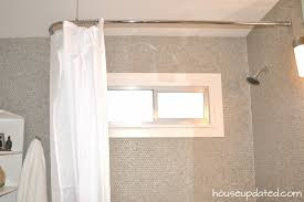 guest bathroom archives house updated l shaped shower curtain rod with ceiling support
