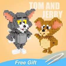 LOZ Tom and Jerry Blocks Toy <b>Cat Mouse</b> Diamond Fun <b>Classic</b> ...
