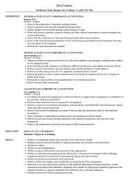Senior Accountant Resume Sample Accountant Corporate Accounting Resume Samples Velvet Jobs 50