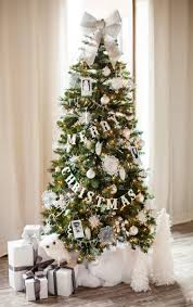 Foxy Ideas From Pictures Of White Christmas Trees Decorated : Fabulous Decorating  Ideas Using Cream Loose