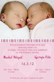 twin birth announcements photo cards twin girl birth announcements and baby thank you photo cards with